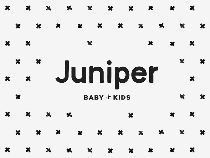 Juniper Logo children kids ecommerce retail fashion identity design brand identity logo