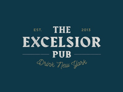 Excelsior Pub Logo logotype wordmark logo restaurant bar pub identity design brand identity