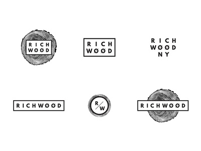 Richwood Logo System furniture wood woodworking identity system secondary logo submark logo identity brand