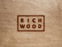 Richwood Logo furniture wood woodworking identity system secondary logo submark logo identity brand