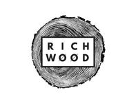 Richwood Logo furniture wood woodworking identity system secondary logo submark logo identity brand