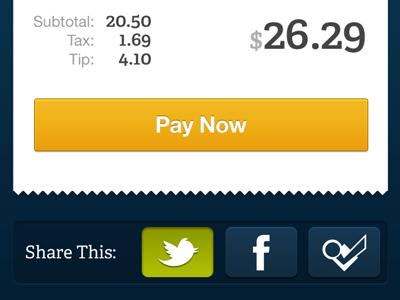 Dash - Pay Now iphone ui mobile social icons dash