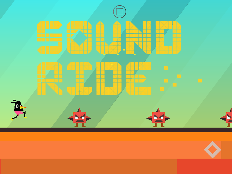 Sound ride game ios vectorial super flat