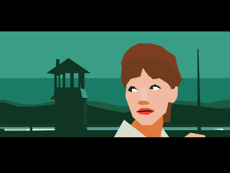 The adventure game vector flat polygon color