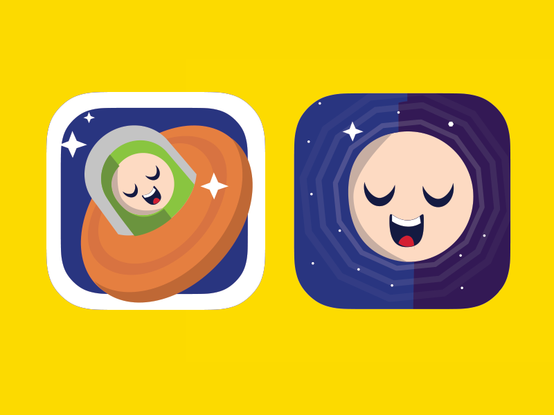 Space time game research logo. ios superflat