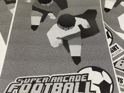 Flyer for Super Arcade Football football wip