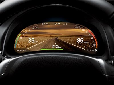 AR dashboard concept in the day for Intelligent driving  driving intelligent dashboard ar
