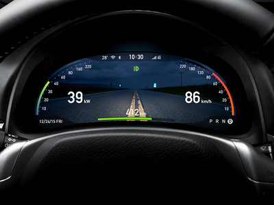 AR dashboard concept in the night for Intelligent driving
