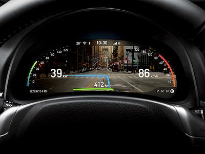 AR dashboard navigation concept for Intelligent driving  driving intelligent concept navigation dashboard ar