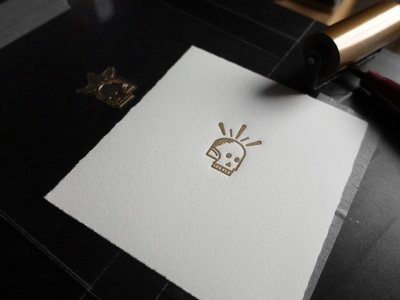 Gold Skull Letterpress icon illustration letterpress skull gold