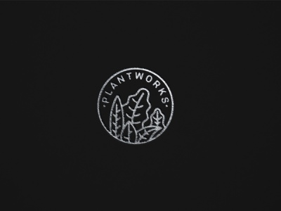 Letterpress Logo Plantworks illustration iconography branding logo