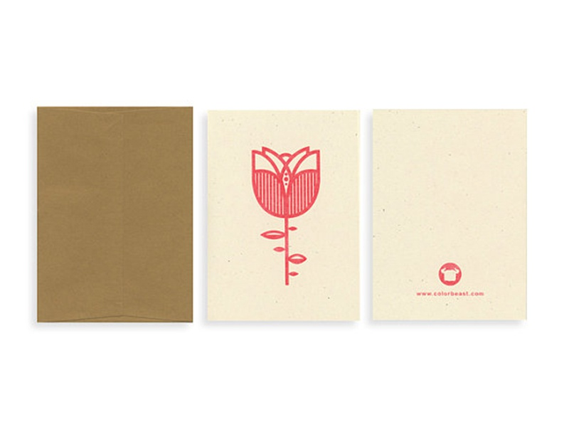 Red Rose Card - Riso on French paper valentines day greeting card note card card red rose graphic risograph risk riso