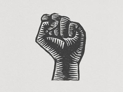 Fist - Woodcut linocut fist blm illustration printmaking woodcut