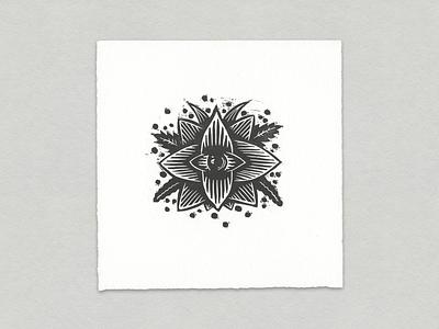 Third Eye Bloom apparel zine print riso risograph woodcut abstract printmaking drawing illustration