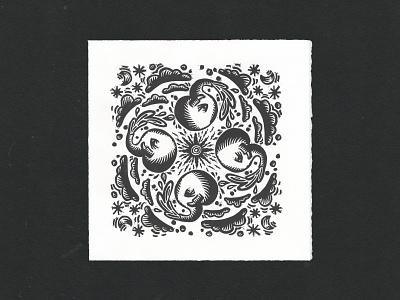 Infinite Elephants elephants logo print risograph woodcut printmaking illustration drawing