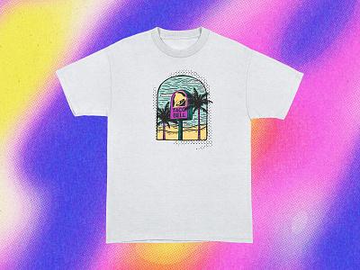 Taco Bell T-shirt Design lanscape drawing illustration taco bell