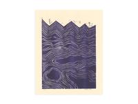 Waves - Purple Risograph Print