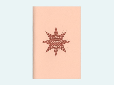 Relic - Zine - Risograph riso risograph zine self publishing woodcut printmaking pink red