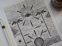 Paradise - Risograph Print