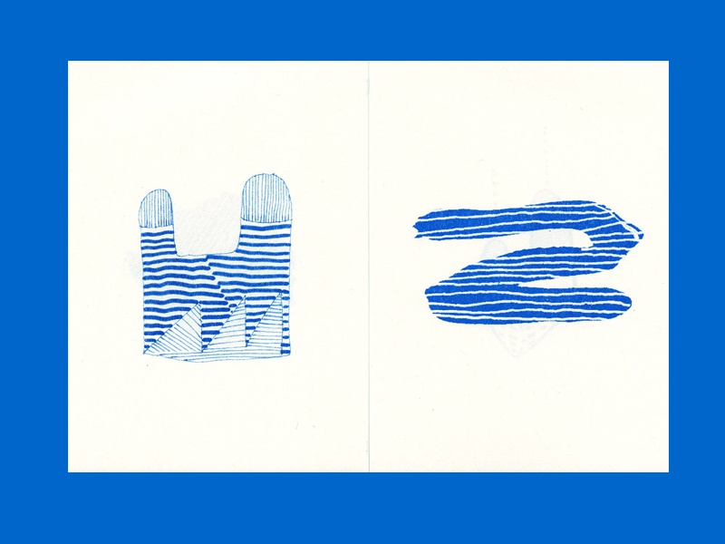 Ghosts waves Vol. 002 Zine abstract diy zine art drawing risograph riso