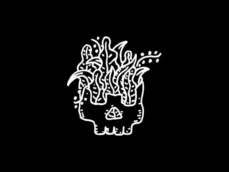 Life Goes On plants skull illustration apparel design