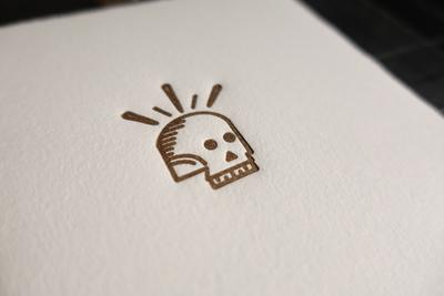 Gold Skull Letterpress