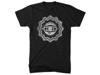 eye burst woodcut t-shirt