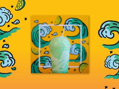 Illustration for Taco Bell's Instagram - Baja Blast
