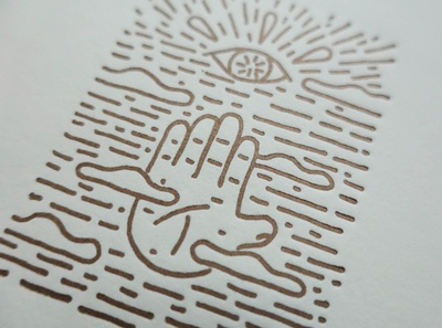 Handscape Letterpress print