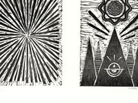 Sunburst - woodcut diptych