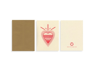 Red Heart - Blank Card card riso heart red pattern graphic