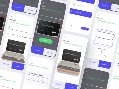Boxcard – all plastic cards in one application interface banking plastic discount card wallet dashboard icon mobile flat app ux ui clean design