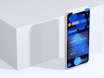Smart home app ui flat mobile design clean app ux motion graphics 3d animation
