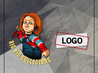 ANNABELLE LOGO chucky annabelle doll cartoon custom logo logo ideas logo design logo maker vector branding illustration mascot youtube channel design logo youtuber streamer