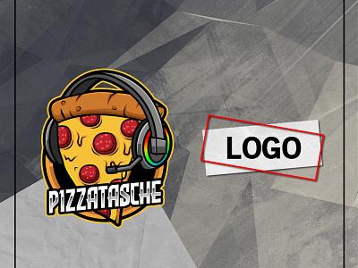 PIZZA LOGO brand logo food logo logo ideas logo designer logo design food pizza lovers pizza cartoon vector branding ui illustration mascot youtube channel design logo youtuber streamer