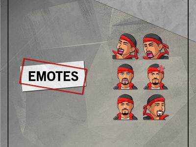TWITCH EMOTES emote for twitch custom emotes twitch emotes emotes cartoon vector ui branding illustration mascot youtube channel design logo graphic design youtuber streamer