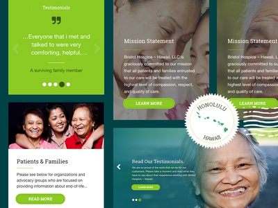 Hospice Care Page Elements