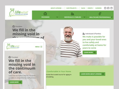 Website Re-Design for Home Accessibility Company
