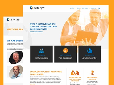 Website Re-Design for Business Technology Experts