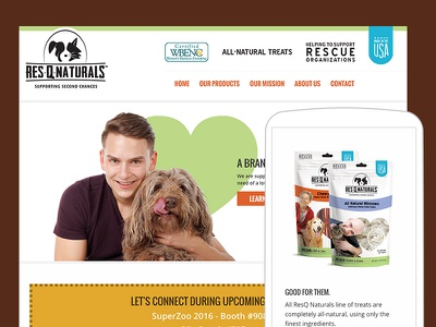 Website Re-Design for Dog Food Company That Cares