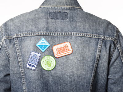 pins of UX icon on Jacket