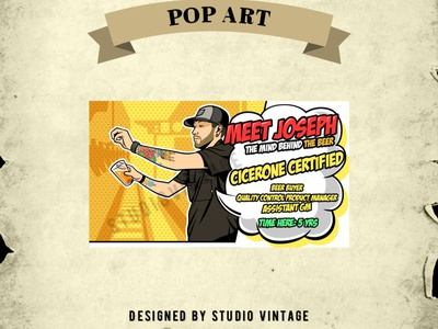 POP ART DESIGN custom logo pop art branding ui graphic design vintage logo retro illustration logo design vintage vector