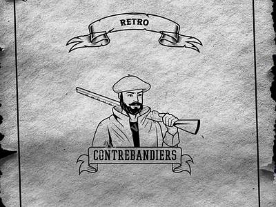 CUSTOME RETRO STYLE ux branding logo ui vintage logo retro illustration design vintage vector