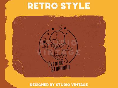 CUSTOME LOGO EVENING STANDARD graphic design customized custome logo logo company affordable art logo retro branding vintage logo retro illustration logo design vintage vector