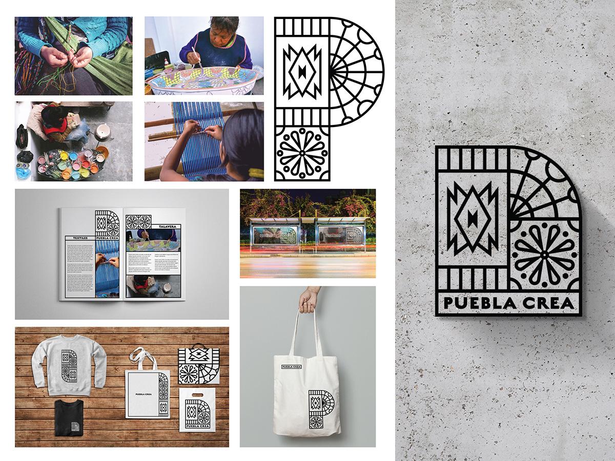 Puebla Crea mexico puebla identidad brand identity branding brand artisan