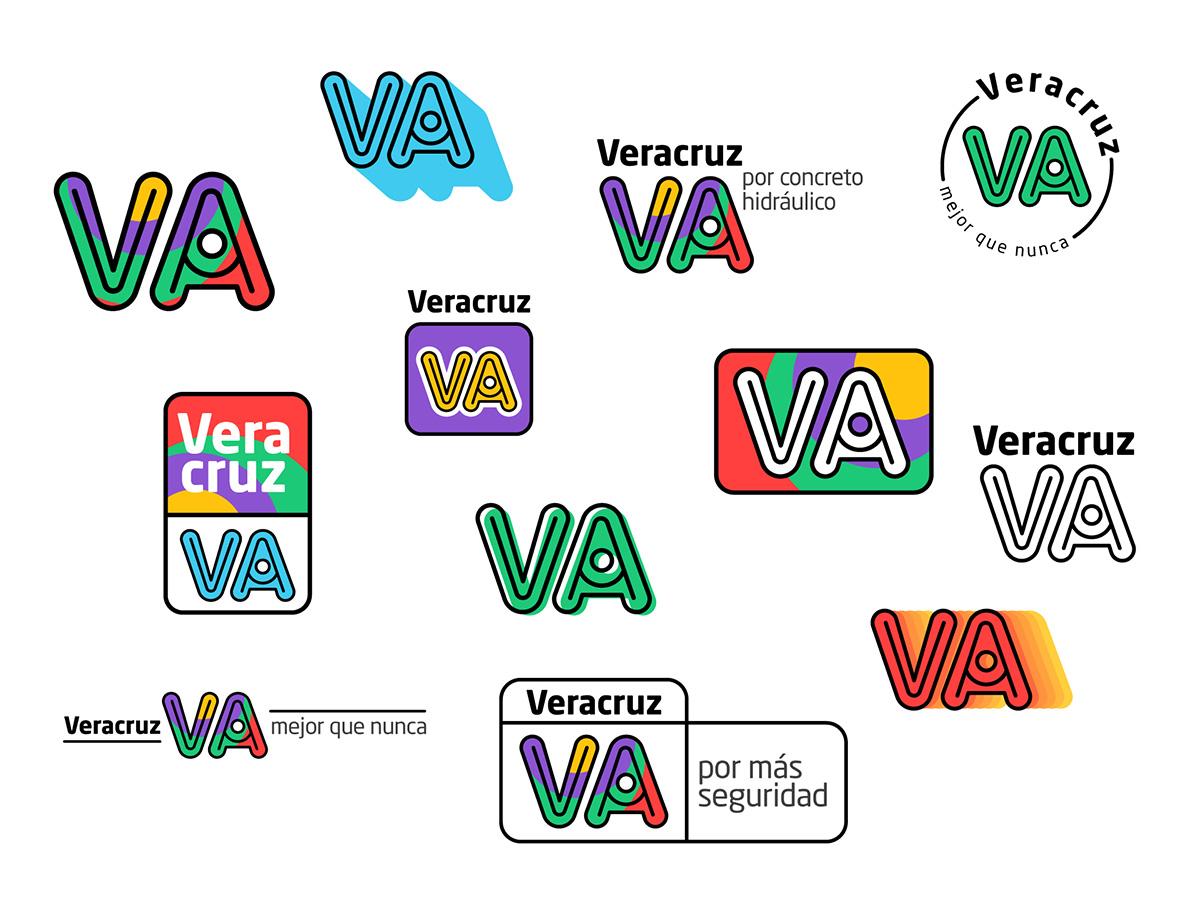 Veracruz Va brand branding identity branding identity propuesta logo identidad veracruz mexico