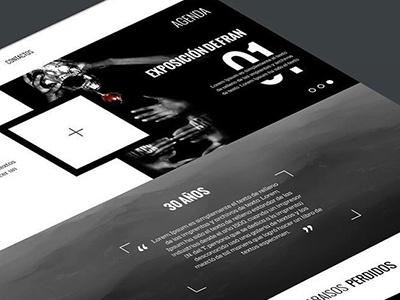 Museum Black & White black and white web museum ui ux