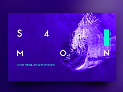 SALMON colors webdesign salmon prototype web