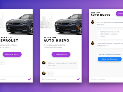 Chat Assitant new car car ui contextual chats chat