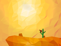 Hot day in Polygonal Desert